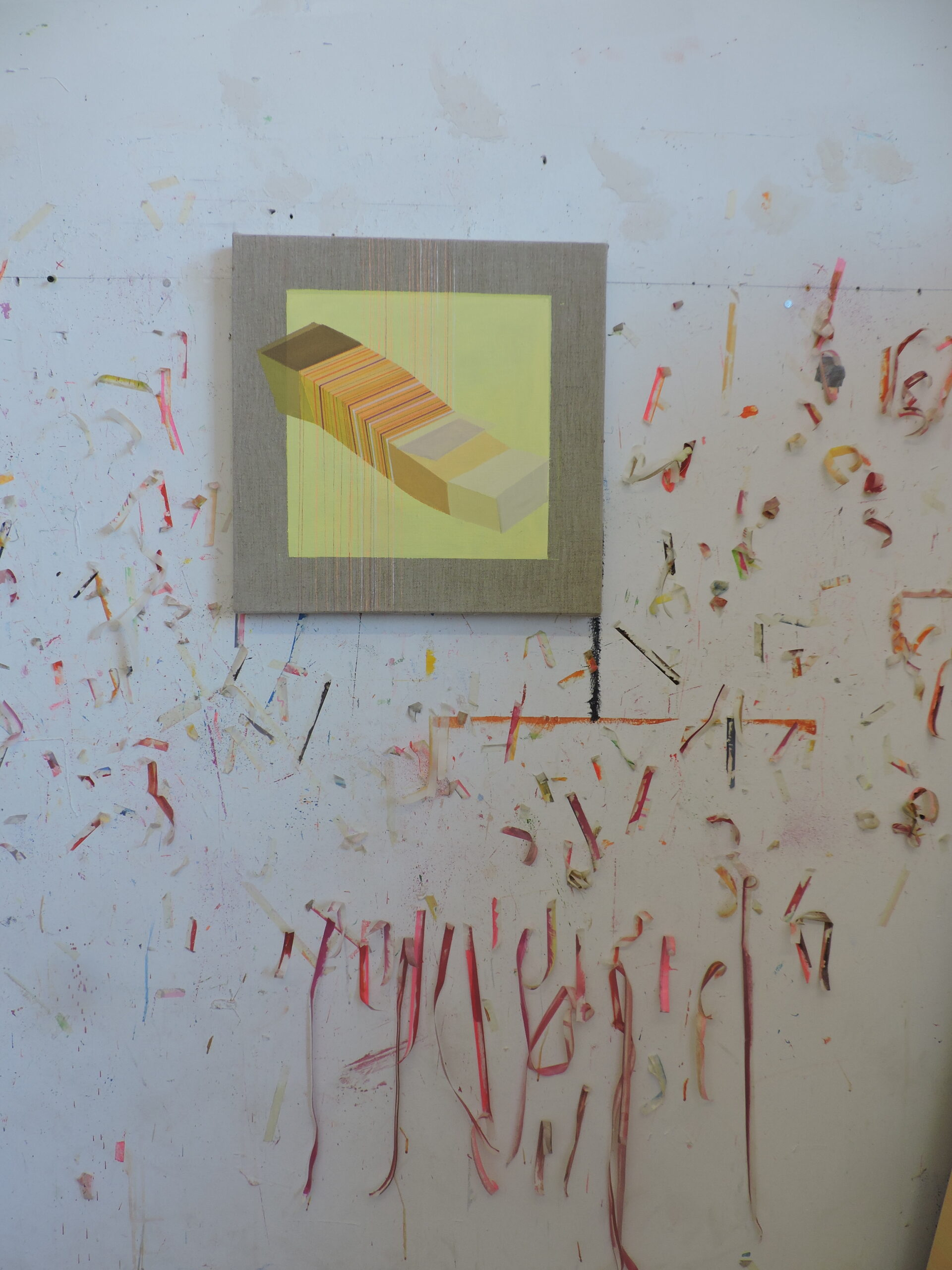 painting in progress, studio 2020 by Antonietta Grassi.
